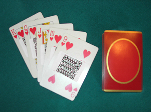 Playing cards with Digit-Eyes labels