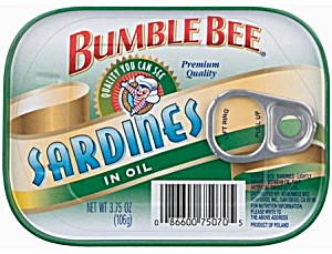 image of Bumble Bee Sardines In Oil - 3.75 Oz Cans (Pack Of 8)