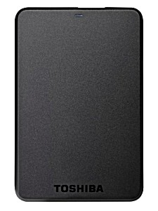 image of Toshiba HDTB110EK3BA 1TB Stor.e Basics Usb 3.0 2.5 Inch External Hard Drive - Black
